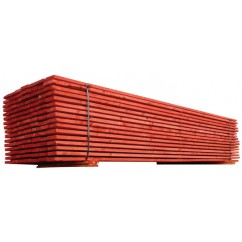 planche rouge section 150 x 27 mm long 4 ml