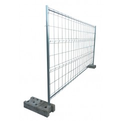 clôture mobile de chantier grillagée 4 barres 2,00 x 3,50 ml